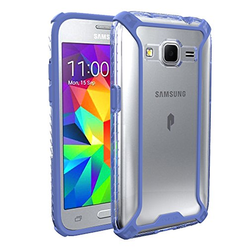 Galaxy Core Prime / Galaxy Prevail LTE Case, POETIC Affinity Series Premium Thin/No Bulk/Slim fit/material Protective Bumper Case for Samsung Galaxy Core Prime Blue TPU With Clear PC