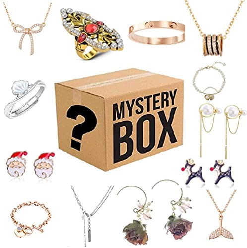 Caja misteriosa para mujeres, caja ciega de joyería Lucky Box, caja sorpresa misteriosa, contiene 13 joyas exquisitas, regalo sorpresa perfecto para tu amante o para ti mismo