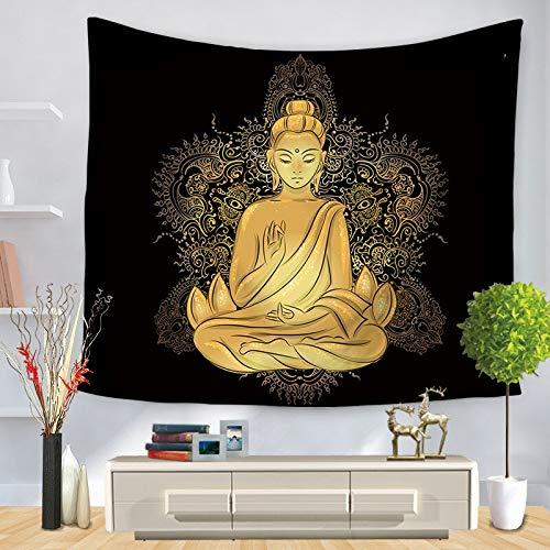 Tapiz de meditación de Buda indio para colgar en la pared, tapiz de mandala, revestimiento de pared, tela de fondo boho psicodélico, A4 150x200cm