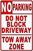 金属サインなし駐車場は、ドライブウェイを妨げません
