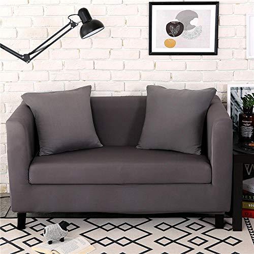 Allenger Corner Sofa,Elastische All-Inclusive-Sofabezug, universelle rutschfeste Universal-Sofabezug für alle Jahreszeiten (dunkelgrau) -190-230 cm