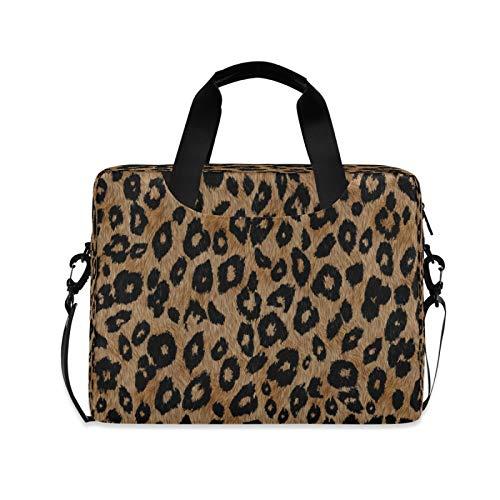 Yulife Vintage Lion Leopard Print Laptop Bag Sleeve Case for Women Men Animals Briefcase Tablet Messenger Shoulder Bag with Strap Notebook Computer Case 14 15.6 16 Inch for Kids Girls Business