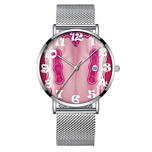 Minimalist Fashion - Reloj de Pulsera de Cuarzo Ultra Delgado, Resistente al...