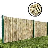 GDMING Protección Visual Valla De Bambú Jardín Y Balcón Pantalla De Privacidad Al Aire Libre Durable A Prueba De La Intemperie Panel con Tubo De Bambú Fijo, 18 Tamaños