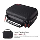 Small Case for GoPro Hero 8,7 Black,6,5, 4, 3+, 3,Hero(2018) HSU Carrying Case for Action Cameras and GoPro Accessories(Small Size Red)