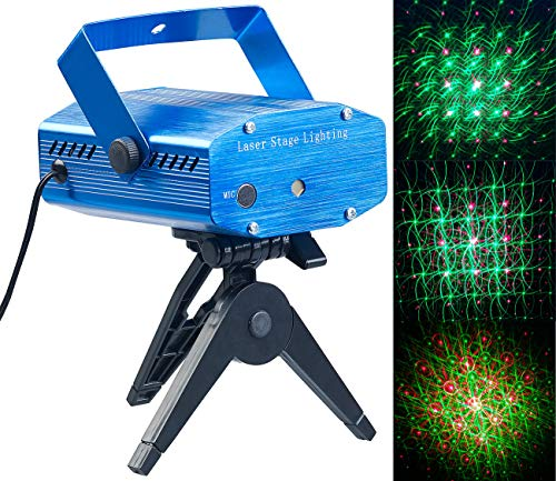 Lunartec Lichtorgel: Indoor-Laser-Projektor, Sternenmeer-Effekt, Sound-Steuerung, grün/rot (Lasershow)