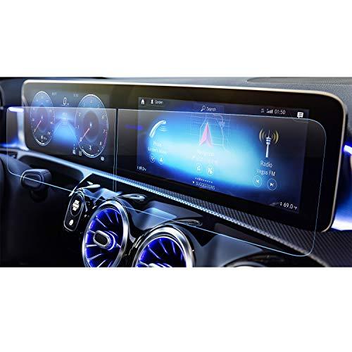[2 pezzi] LFOTPP Classe A W177 10,25 Pollici Navigazione Pellicola Protettiva in Vetro Temperato Screen Protector Film Auto Accessori