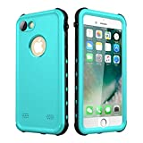 iPhone 7 Case/iPhone 8 Case Waterproof, iThrough Underwater Case for iPhone 7/iPhone 8, Dust Snow Shock Proof, Heavy Duty Protective Carrying Slim Case Cover for iPhone 7/iPhone 8,4.7 Inch(White)