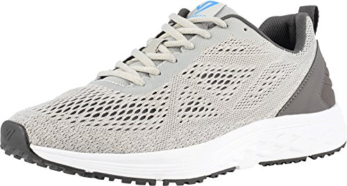 Vionic Men's Fulton Tate Sneakers - Walking Shoes with Concealed Orthotic Arch Support Grey 8 M US