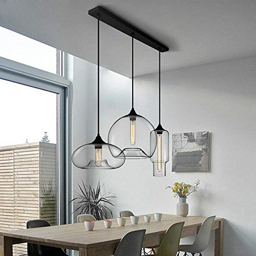 WOF Designer\'s Light Bar Restaurantbar Kreatives Wohnzimmer Nordic Cafe Persönlichkeit minimalistisch Glas Pendelleuchte (größe : A)