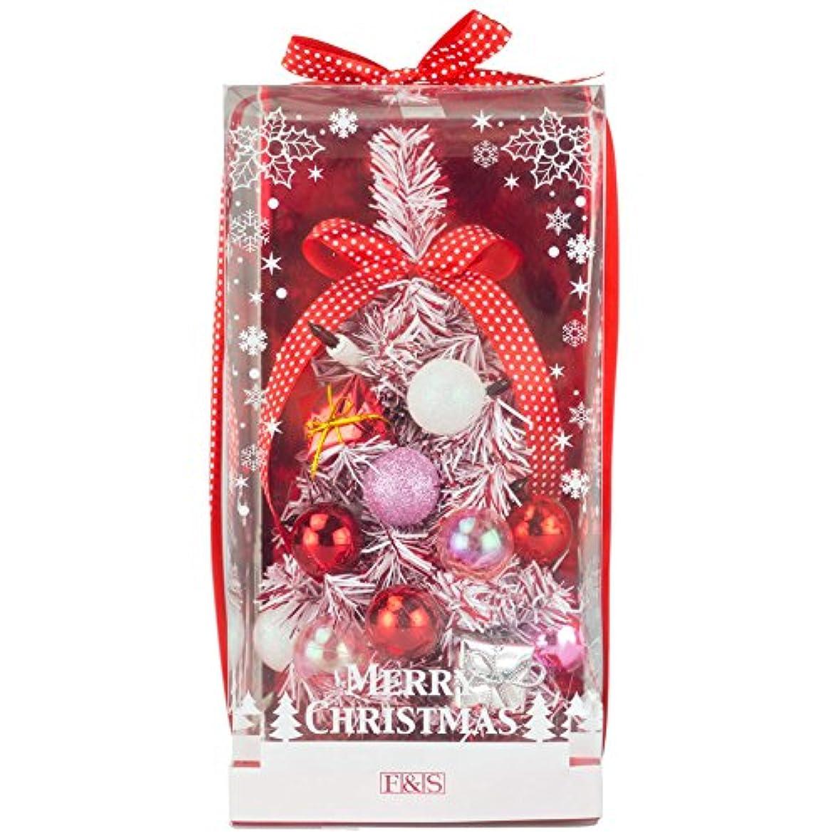 調子微視的視聴者東京ローソク クリスマスツリー ミニツリー 26cm デコレーションツリー ピンクスノー
