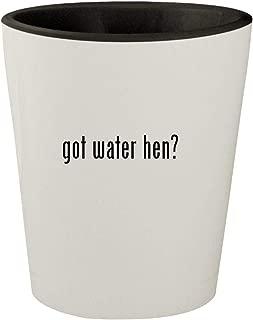 got water hen? - White Outer & Black Inner Ceramic 1.5oz Shot Glass