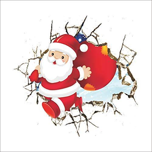 Shuda 1 PCS Adesivi Muro Natale Stickers Natale Wall Stickers Babbo Natale Addobbi Natalizi per Porta/Finestre/Pareti/Specchio Size 50 * 50cm