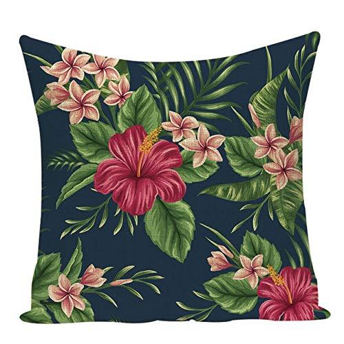 JPDP Botanical Pillow Black Home Sofa Decor Cushions Custom Linen Throw Pillows Decorative Cushions Outdoor Cushion Covers L281 45-45cm L281-5