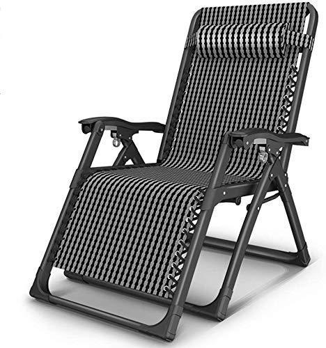 WFFF Tumbona de jardín Plegable al Aire Libre reclinable Silla de Gravedad Cero, Mecedora reclinable, balcón, jardín, Ocio, Relax, Perezoso, sillones, Oficina, Exterior, siest
