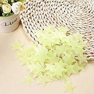 Wall Stickers - 100pcs/lot Glow Wall Stickers 3d Stars wall stickers Decal Baby Kids Bedroom Home Decor Color Stars Lumino...