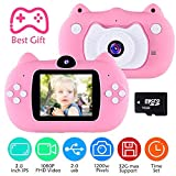 VATENIC Kids Camera Children Digital Cameras 2 Inch HD Toddler Video Recorder Shockproof Selfie Kid Action Camera Birthday Toy Best Gift for 3-10 Years Old Boys Girls Kids (16GB SD Card Included)