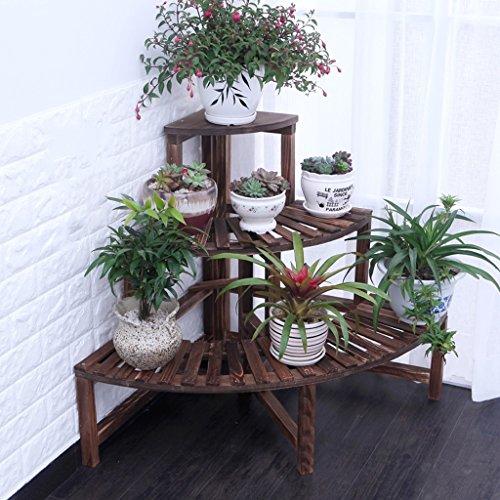 Fu Man Li Trading Company Armoire à fleurs Cirage à gazon Anticorrosif Étagères en pot à bois Étage à plusieurs étages Étagère à grande capacité A+