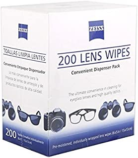 ZINNI-Camera Cleaning - 200 Zeiss Pre-moistened Lens Cleaning Cloths Wipe Glasses Optical Camera Cleaner Professional Lens...