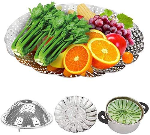 Edelstahl klappbar Gemüse Dampfgarer