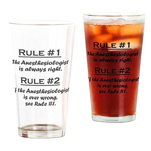 CafePress Rule Anästhesiologe Pint-Glas farblos
