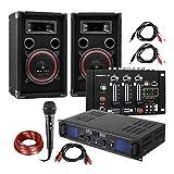 DJ Juego de PA DJ-14 USB - Amplificador de PA , Mesa de Mezclas USB , Pareja de Altavoces ,...