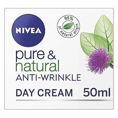 NIVEA Pure & Natural Anti-Wrinkle Face Cream, 50 ml, Pack of 3 from Beiersdorf Uk Ltd