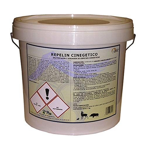 Repelin Granulate Cinegetics, Natural Repellent in Granules for Animals of Animals, Repellent Rabbits, Deer or Boar, Green, Bucket 5 kg