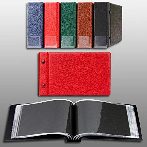 Prophila Kobra Petit Album pour 100 Cartes Postales et des Lettres jusqu'à 190 x 125 mm, Rouge