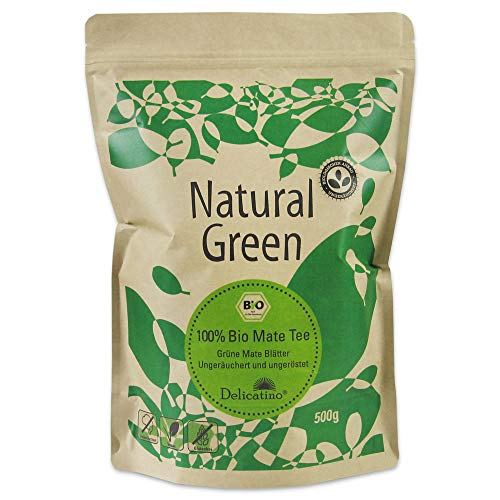 Bio Delicatino Mate Tee- Natural Green DOYPACK, 1er Pack (1 x 500 g)