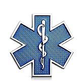 Appiu Life of a Star of emergencia ambulance - Pegatinas personalizadas para coche (metal, con forma de estrella de emergencia), color azul