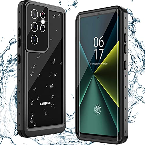 ANTSHARE for Samsung Galaxy S21 Ultra Case Waterproof, Built in Screen Protector 360° Full Body Heavy Duty Protective Shockproof IP68 Underwater Case for Samsung Galaxy S21 Ultra 6.8inch