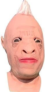 WNGCAR AU Latex Headdress Halloween Mask Tricky Fool Series Funny Rhino Mask