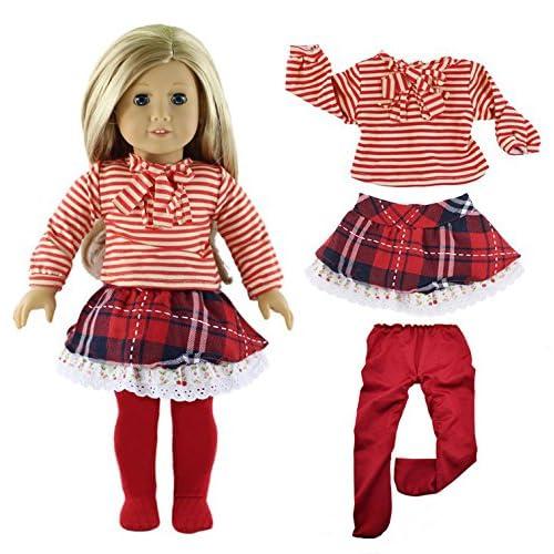 Qinsuee Doll Clothes Set for 18 Inch American Girl Dolls f593af504