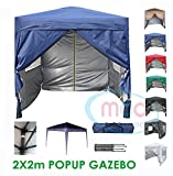 MCC@home Premier 2x2m Waterproof Pop-up Gazebo with Silver Protective Layer Marquee Canopy (WS)