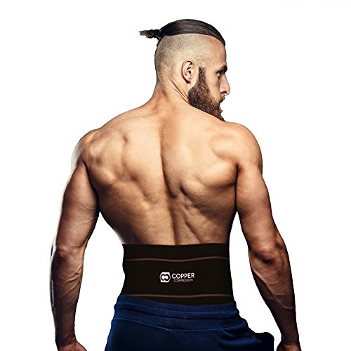 Copper Compression Recovery Back Brace - Highest Copper Content with...