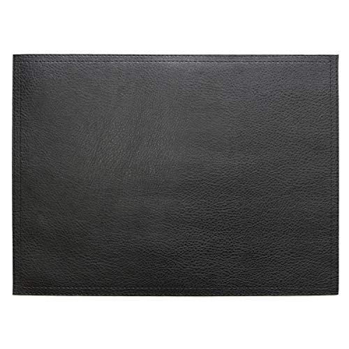 """Wintop PU Leather Placemats, 13""""X17.5"""", Set of 6, Black"""