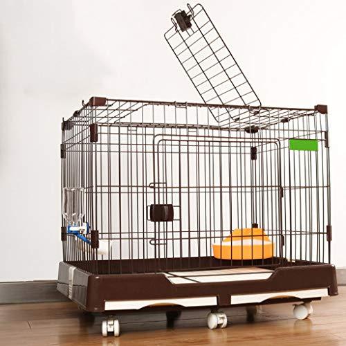 LVLVLO Valla for Mascotas, Villa Jaula de Perro de Interior de Peluche, al Aire Libre Valla de Juego de Mascotas, pequeña Jaula de Perro y Gato Jaula de tamaño Mediano (Color : Black, Size : M)