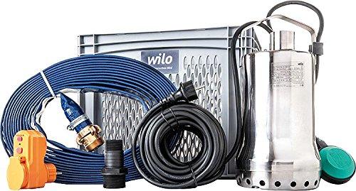 Wilo Hochwasserbox Mini Flut Set - Schmutzwasser-Tauchpumpe TS32/9-A