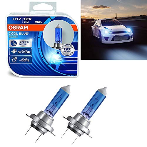 Jurmann Trade GmbH® 2 x Osram Cool Blue Boost Hyper Blue Off-Road H7 12V 80W PX26d