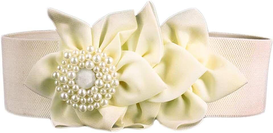 Nanxson Women's Belt Flower Wide Elastic Waist Band PDW0050