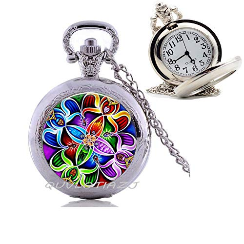 Celtic Jewelry-Glass Pendant Pocket Watch Necklace-Celtic Mens Celtic Pocket Watch Necklace/Unisex Jewelry/Pocket Watch Necklace for Men/Celtic Jewelry/Father's Day Pocket Watch Necklace/Gift for Him,