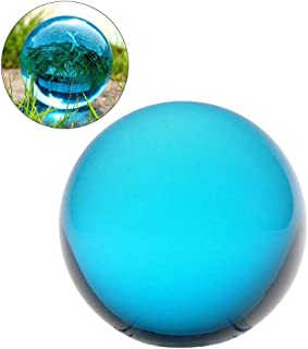 クリスタル クリア ボール 水晶球 水晶玉 多色透明 クリスタルボール レンズボール 装飾品 1個入り (30mm、水色)
