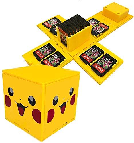 ALOUWEEKUKY Funda de Juego - Compatible para Nintendo Switch Compatible con hasta 16 Juegos de Nintendo Switch Organizador de...