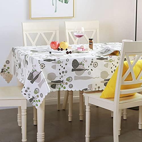 marca blanca Mantel lavable de PVC de plástico para limpiar con trapos, impermeable, rectangular, para cocina, picnic, interior de 1,35 m