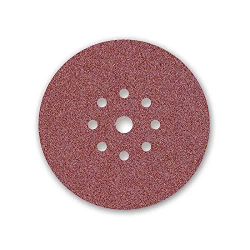 MENZER Red Klett-Schleifscheiben, 225 mm, 9-Loch, Korn 16, f. Trockenbauschleifer, Normalkorund (10 Stk.)