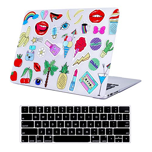 AUSMIX MacBook Pro 13 Inch Case 2015 2014 2013 end 2012 Model A1425/A1502 3D Effect Matte See Through Rubberized Hard Shell Cover+Keyboard Cover for MacBook Pro 13' Retina Non CD ROM,Lipstick