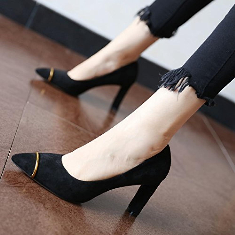 FLYRCX Frühling und Herbst Mode Persönlichkeit Velours Single Schuh Schuh Schuh Frauen flach wies High Heel Schuhe B0795ZXX5G  Günstiger 196fa4