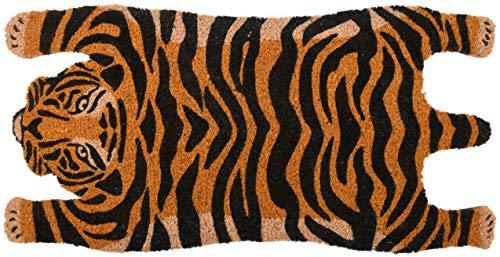 Esschert Design RB200 Tiger Coconut Doormat Orange/Black