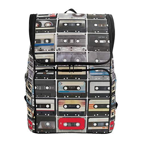 Fantazio Collection de Bandes Audio rétro pour Ordinateur Portable, Sac à Dos de Voyage, randonnée, Camping, décontracté, Grand Sac à Dos pour l'école